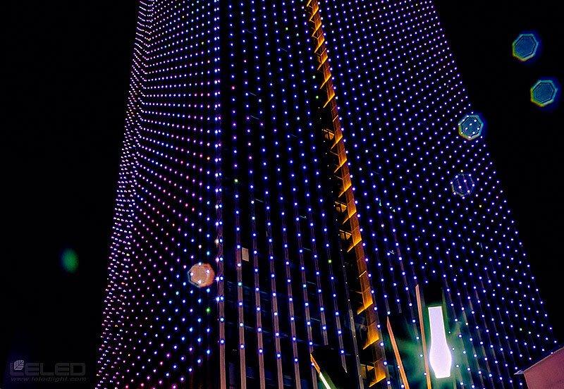 بناء تصميم المشهد الليلي الديناميكي للأضواء نقطة البيكسل LED 2