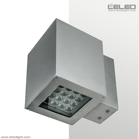 Bright Square LED Outdoor Wall Lamp Up And Down Light On Two Sides