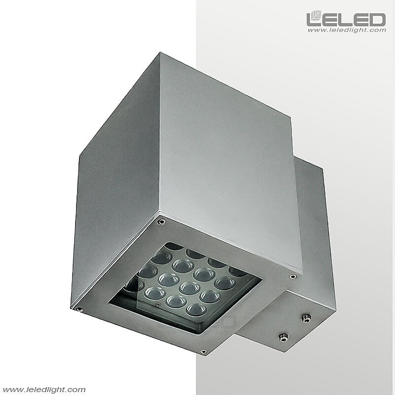 Bright Square LED Outdoor Wall Lamp Up And Down Light On