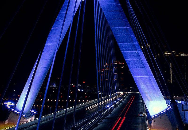 lighting projector bridge design idea for super LED high power projector flood lights