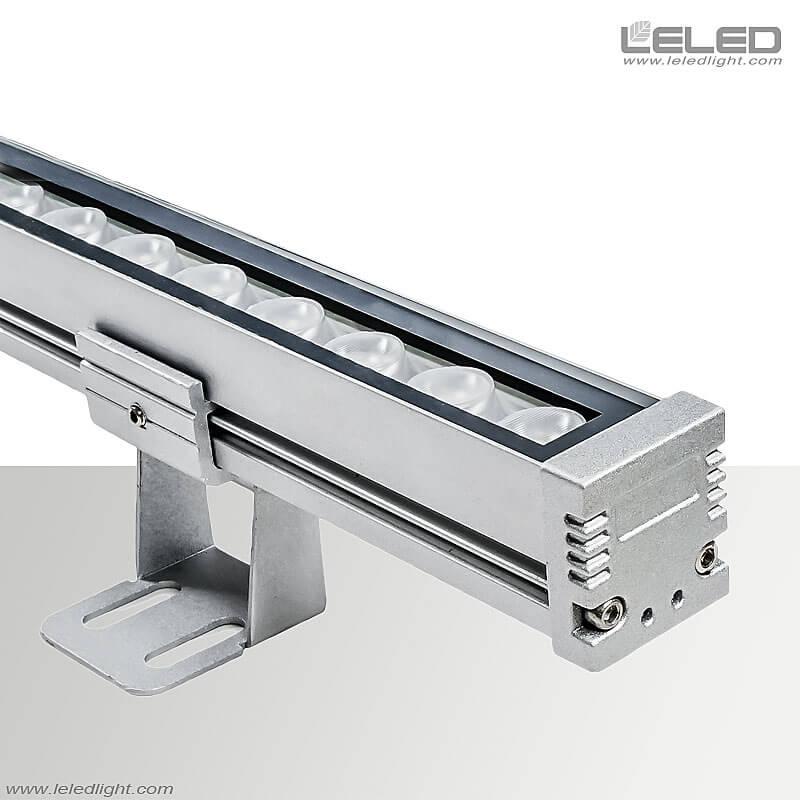 أضواء LED الخطية المثبتة على السطح مع بناء الواجهة الخارجية لغسالة الأواني