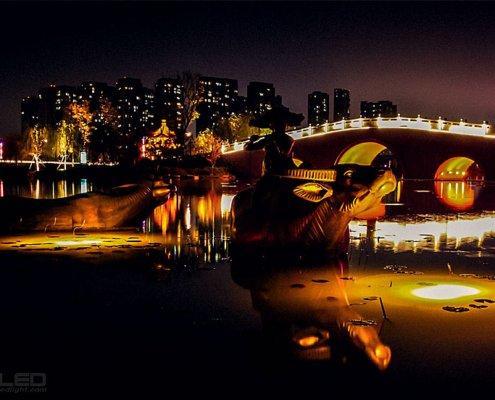 LED underwater lights for garden and pond 1 watt led spotlight light effect